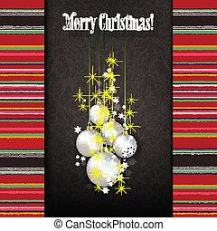 灰色, 装飾, 抽象的, 背景, 白い クリスマス, 祝福