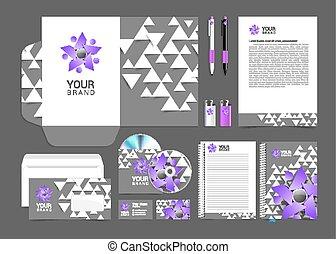 灰色, 要素, ビジネス 人々, 紫色, セット, ロゴ, 企業である, あなたの, アイデンティティー