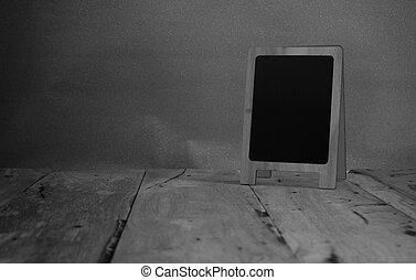灰色, 部屋, 壁, 黒板, 三脚, 背景, 内部