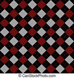 灰色, 重覆, 圖案, argyle, 背景, 黑色, 紅色