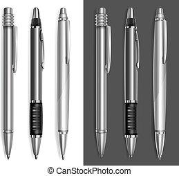 灰色, 鋼筆