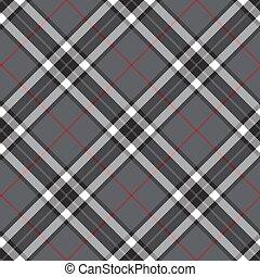 灰色, seamless, 対角線, tartan