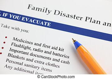 災害, 家族, 計画
