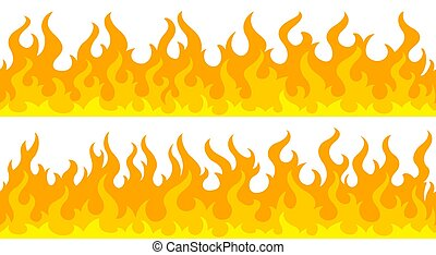 炎, ボーダー, フレーム, 火