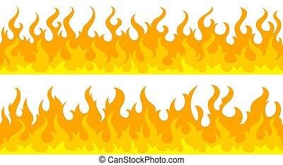 炎, 火, ボーダー, フレーム