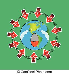 炭素, ベクトル, eps10., dioxide.