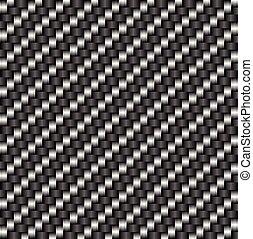 炭素, tileable, パターン, 繊維