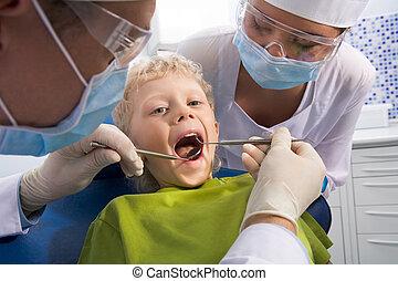 点検, の, 口頭の虫歯