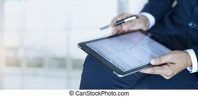点検, オフィス, 要求, 保険, 形態, 完了, 文書, 医学, ビジネスマン, 概念, 保護, 仕事