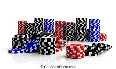 点検, カジノ, ギャンブル, 背景, 隔離された, 大丈夫です, 白