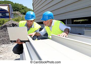 点検, 建物, 労働者, 建築材料