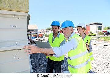 点検, 建物, 労働者, 建設, 構造