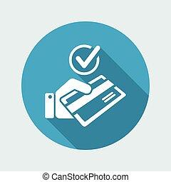 点検, -, 方法, クレジット, 支払い, カード