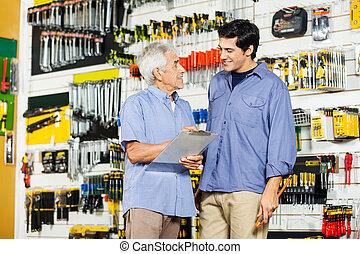 点検, 父, リスト, 息子, 工具店