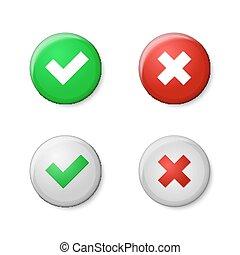 点検, marks., 現実的, ボタン, styl