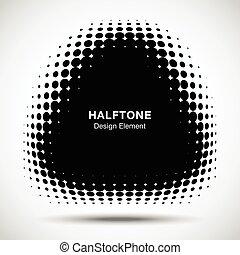 点, 広場, 三角形, ロゴ, パターン, 抽象的, ゆがめられた, halftone, バックグラウンド。, ベクトル...