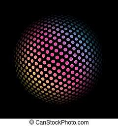 点, 球形, 有色人種, pattern., イラスト, ベクトル, 背景, 幾何学的, 3d