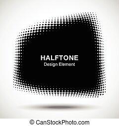 点, 紋章, 台形, ロゴ, パターン, 抽象的, ゆがめられた, halftone, バックグラウンド。, ベクトル...