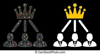点, 2d, 王冠, 噛み合いなさい, アイコン, 管理, 火炎信号