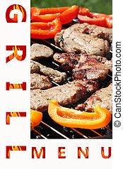 烤架, 菜單, 樣品, 首頁