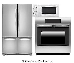烤爐, 微波, 冰箱