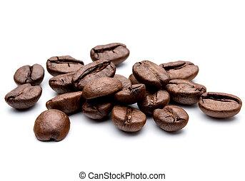 烤, 咖啡豆, 被隔离, 在, 白色 背景, cutout