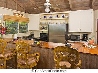 热带, 内部, 厨房