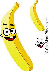 热带, 微笑, 成熟, 黄色的香蕉