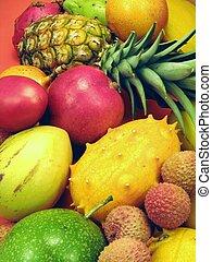 热带, 蔬菜, 水果