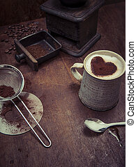 無作法, コーヒー, 背景