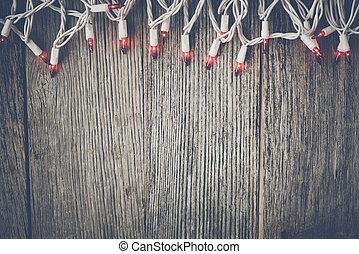 無作法, ライト, 木, 赤い背景