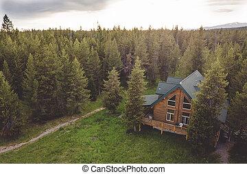 無作法, 丸太, 山の小屋