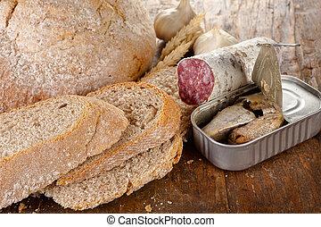 無作法, 昼食, bread
