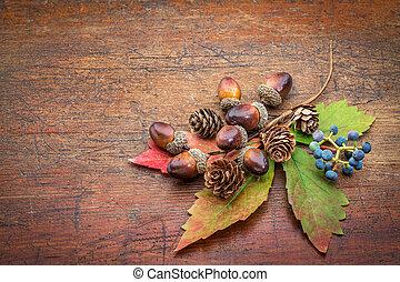 無作法, 木, 装飾, 秋
