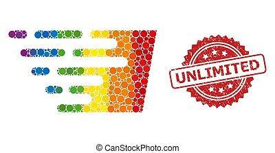 無制限である, 効果, 切手, 明るい, 速い, コラージュ, 有色人種, ゴム