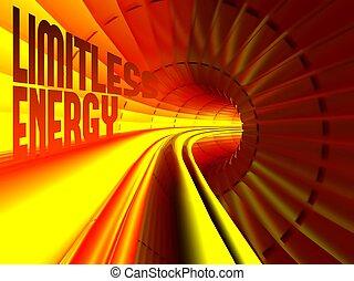 無制限, エネルギー流れ, の の中, ケーブル