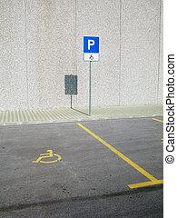 無效, 停車處, 地方