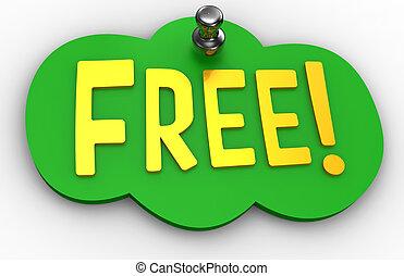 無料で, ウェブサイト, ピン, 印, 単語