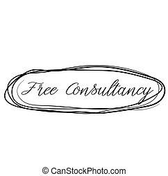 無料で, コンサルタント業, 切手, 隔離された, 白