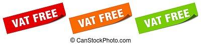 無料で, 大桶, 印。, 隔離された, ラベル, sticker., 広場