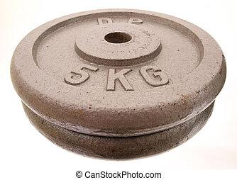 無料の重量, 5, kg, 前部, pe