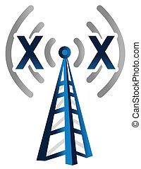 無線, タワー, 技術, シグナル, いいえ