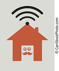 無線, 家, 接続