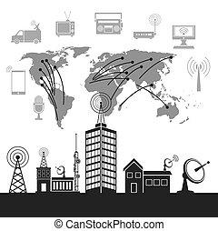 無線, 都市, 現代 技術