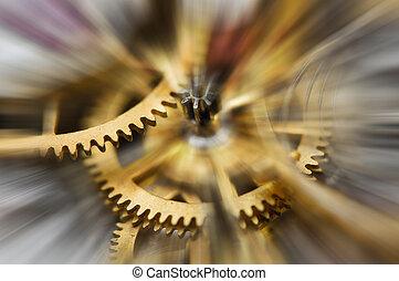 無限点, 概念, 技術, 時計, 太陽, 抽象的, 金属, メカニズム, 考え, time., チームワーク, ビーム, マクロ, 生活, はめば歯車, 動き