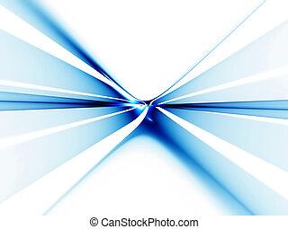 無限点, 青, 地平線, 離れて, 伸張