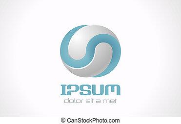 無限, 抽象的, ベクトル, ロゴ, テンプレート, ∥ために∥, 化粧品, 薬, pharmacy., 技術, 概念,...