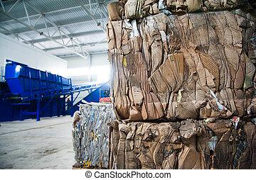 無駄, リサイクル, 工場