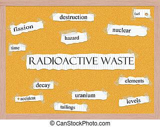 無駄, 概念, corkboard, 放射性, 単語
