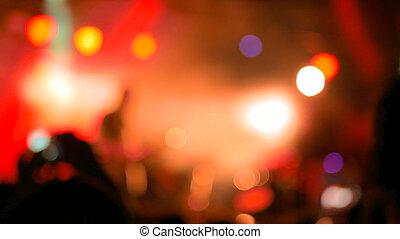焦点がぼけている, コンサート, 照明